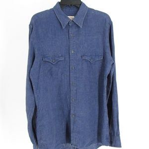 Brooks Brothers Denim Looking Button Front Shirt M